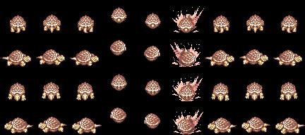 Tortue des Mers Rouge Dorée skin de Slayers Online MMORPG 2D